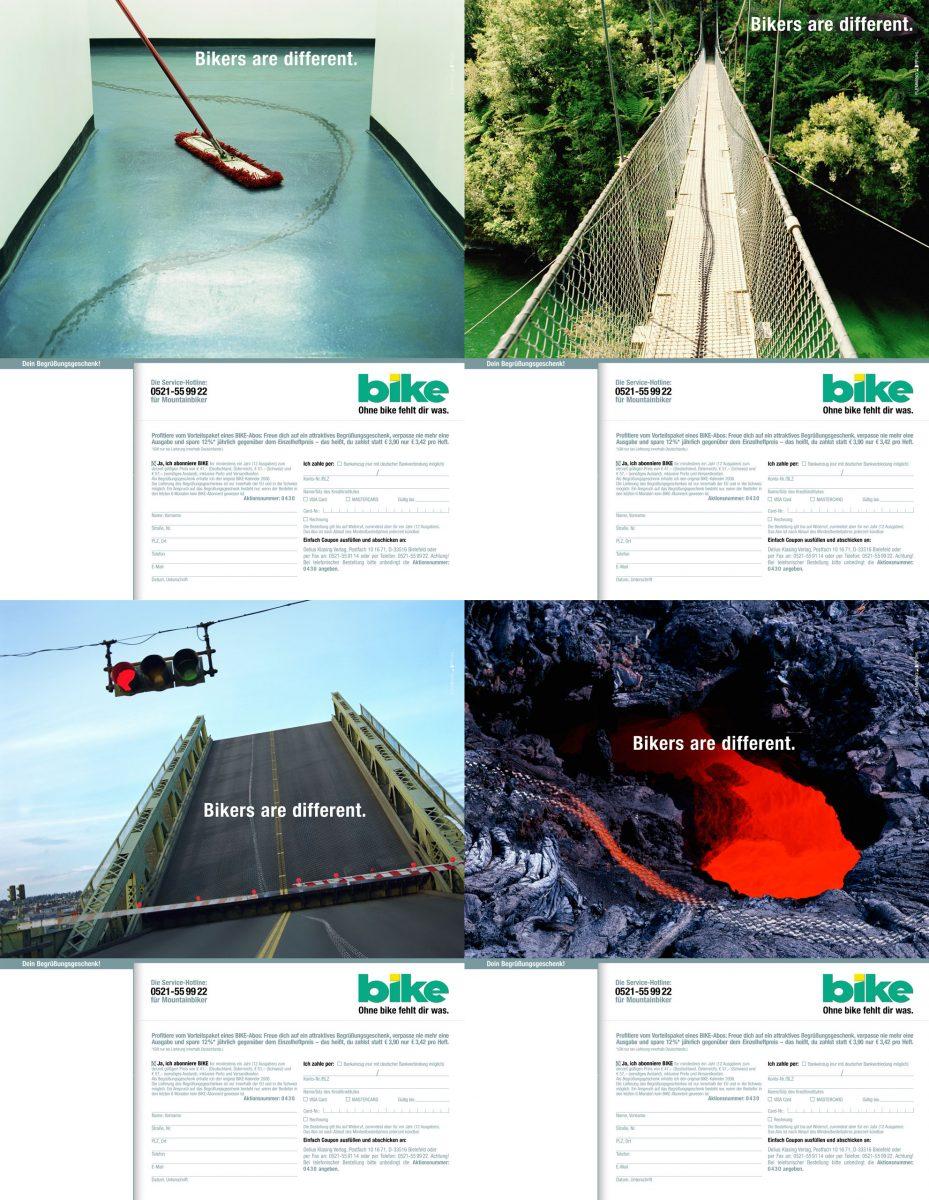 Image Editing / Kampagne BIKE Magazin / Studio Haug / Flemming Pfuhl Hamburg